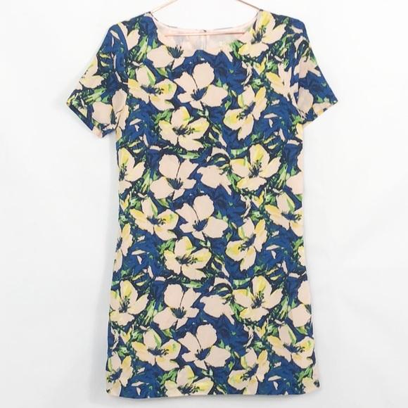 J.Crew Floral Short Sleeve Shift Dress Like New 6